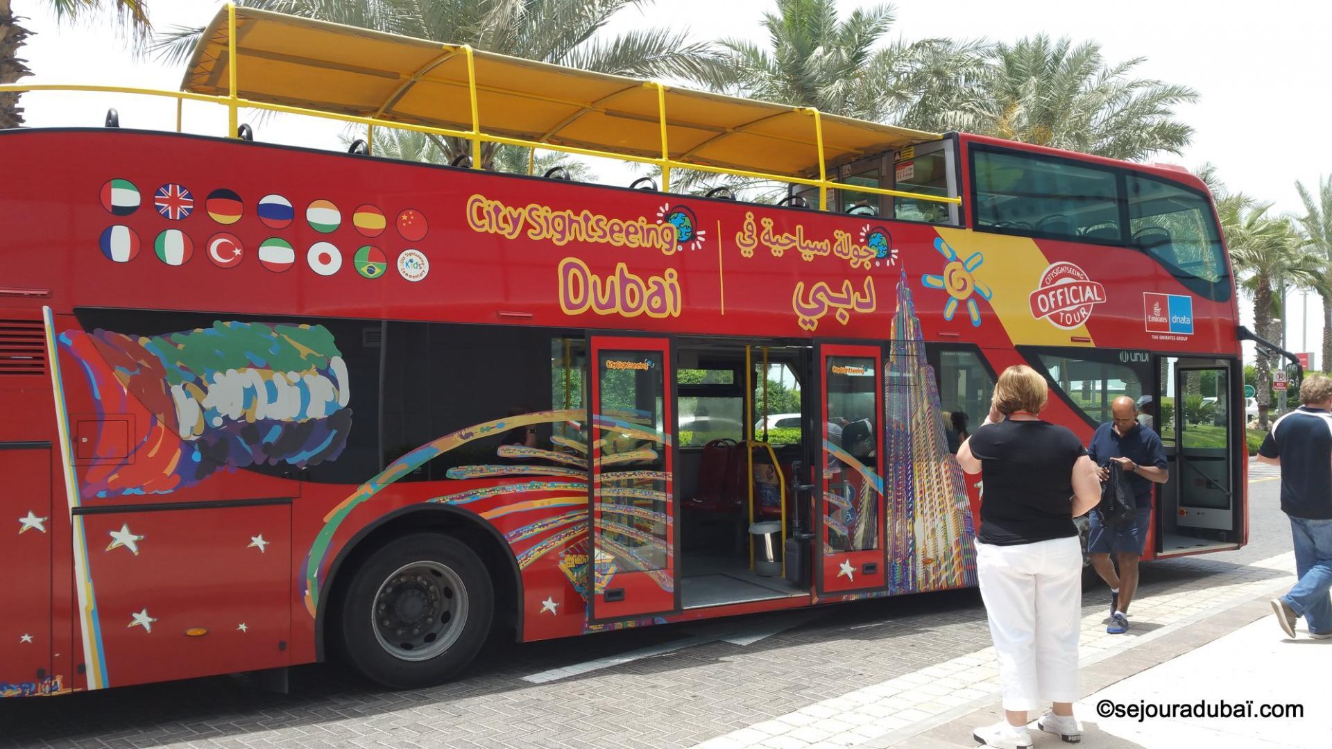 Dubaï City Sightseeing Tour : Visite touristique en Bus à arrêts multiples