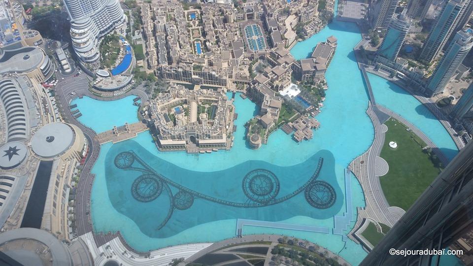 Dubaï Fountain vue du Burj khalifa