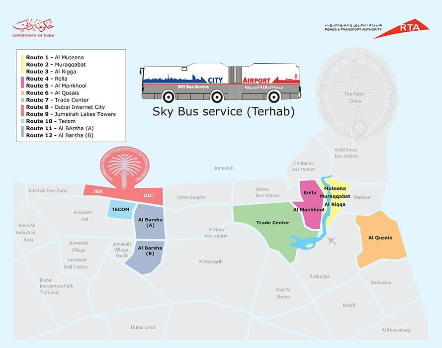 Sky bus airport itineraires dubai