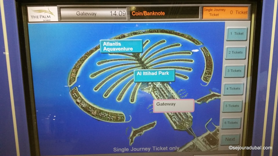 Monorail Dubaï Atlantis The Palm