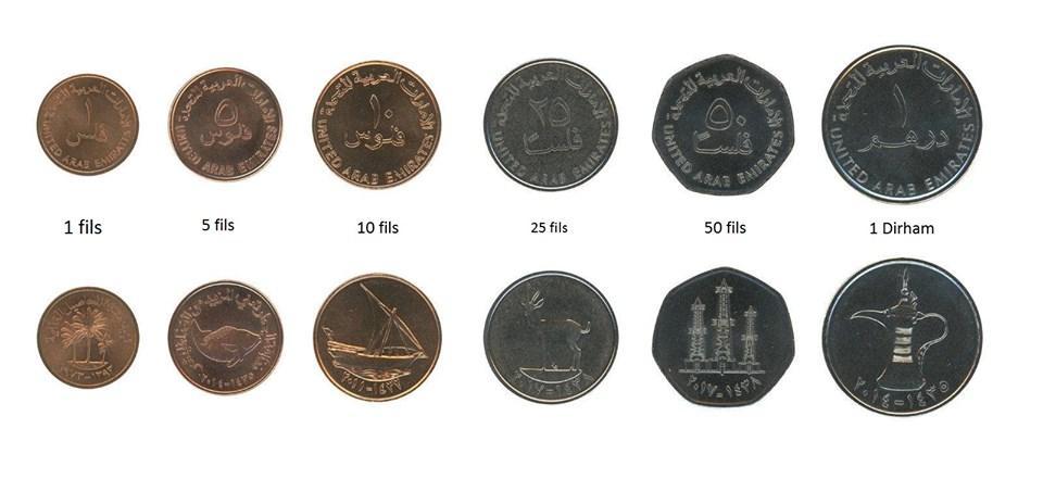 Pieces de monnaies fils dubai