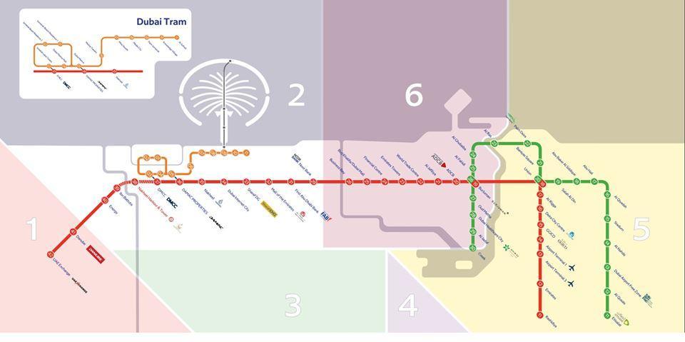 Plan du metro de dubai©RTA